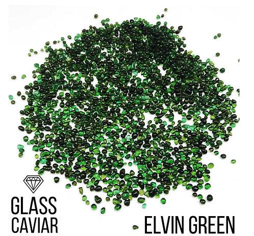 Стеклянная крошка Glass Caviar, Elvin Green, 250гр