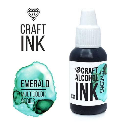 Алкогольные чернила  Craft Alcohol INK, Emerald (Изумруд), 20мл