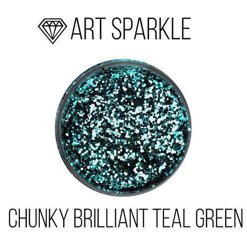 Глиттер крупный Chunky Brilliant Teal Green, 50гр