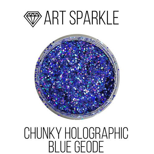 Глиттер крупный  Chunky Holographic Blue Geode, 50гр