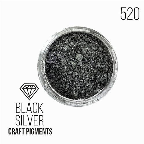 "CraftPigments ""Black Silver"", темное серебро, 25мл"