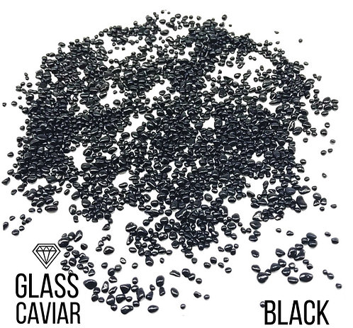 Стеклянная крошка Glass Caviar, Black, 250гр