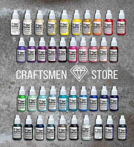 Набор красителей для смолы и полимеров CraftResinTint, 40шт