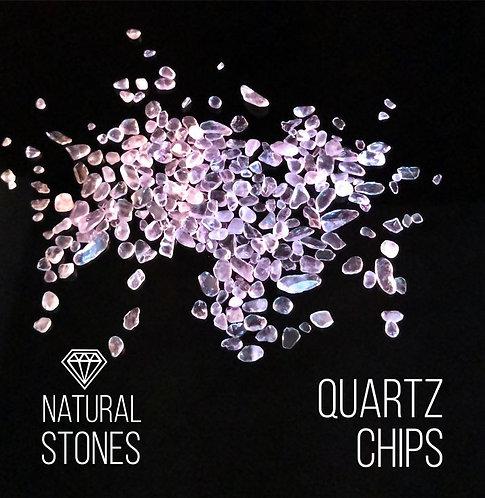 Натуральный розовый прозрачный кварц Quartz Chips, 2-4 мм, 100гр