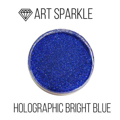 Глиттер мелкий Holografic Bright Blue, 50гр