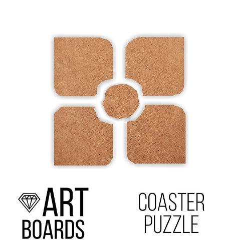 """Заготовка ART Board Creative """"Coaster Puzzle"""", Подставки пазл №2"""