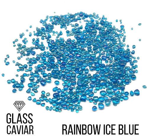 Стеклянная крошка Glass Caviar, Rainbow Ice blue, 250гр
