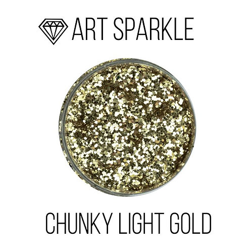 Глиттер крупный Chunky Light Gold, 50гр