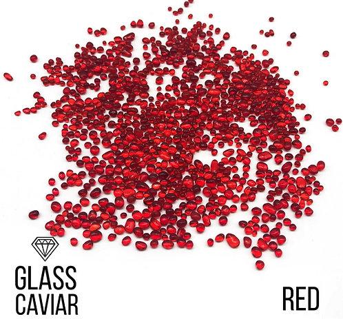 Стеклянная крошка Glass Caviar, Red, 250гр