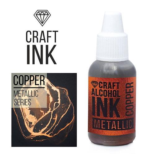 Алкогольные чернила Craft Alcohol INK metallic, Copper (Медь) 20мл
