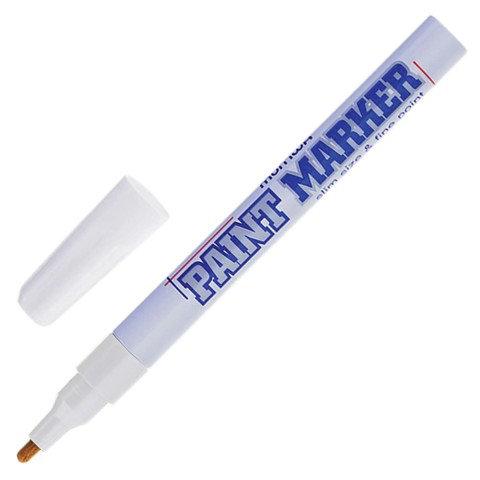 Маркер-краска лаковая 2 мм , White,  алюминиевый корпус,MUNHWA