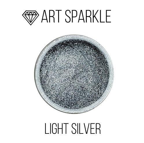 Глиттер мелкий Light Silver, 50гр