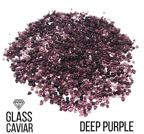 Стеклянная крошка Glass Caviar, Deep Purple, 250гр
