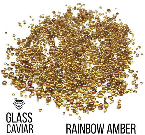 Стеклянная крошка Glass Caviar, Rainbow Amber, 250гр