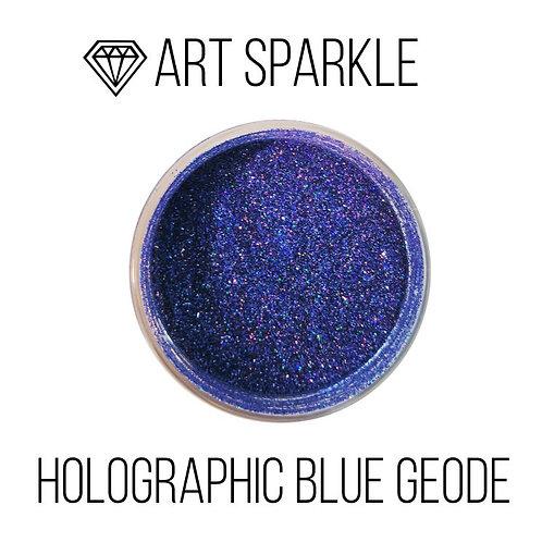 Глиттер мелкий Holographic Blue Geode, 50гр