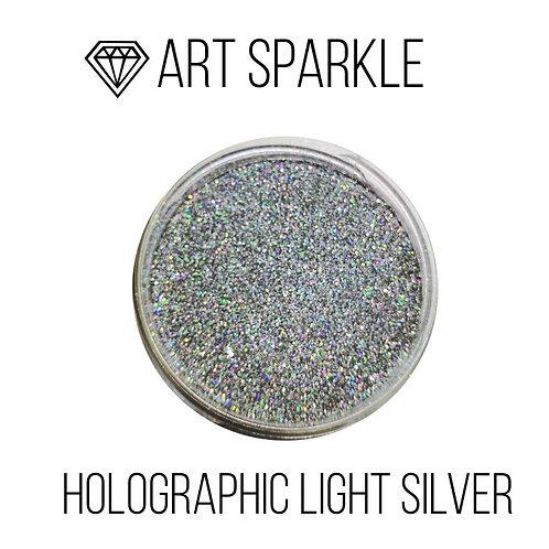 Глиттер мелкий Holografic Light Silver, 50гр