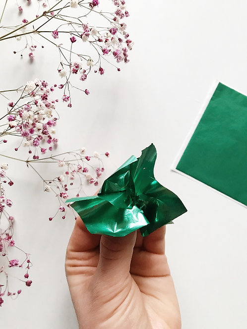 "Зеркальная поталь ""Mirror Shine"",Emerald, 90шт. 8*8,5см"