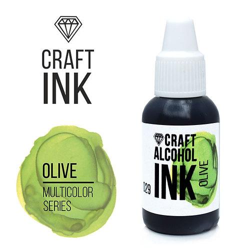 Спиртовые чернила  Craft  INK, Olive (Оливковый), 20мл