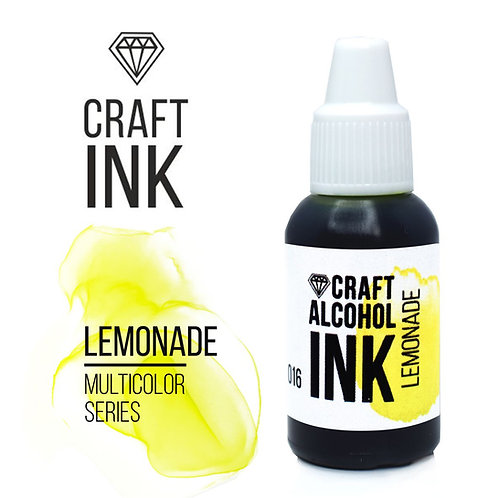Спиртовые чернила  Craft INK, Lemonade (Яркий лимонный), 20мл