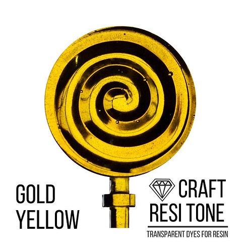 Прозрачный тонер для эпоксидной смолы, Gold Yellow (желтый золотистый) 10мл