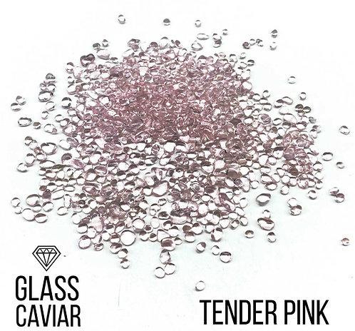 Стеклянная крошка Glass Caviar, Tender Pink, 250гр