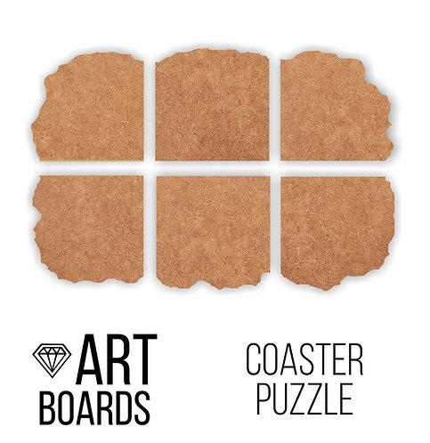"""Заготовка ART Board Creative """"Coaster Puzzle"""", Подставки пазл №1"""