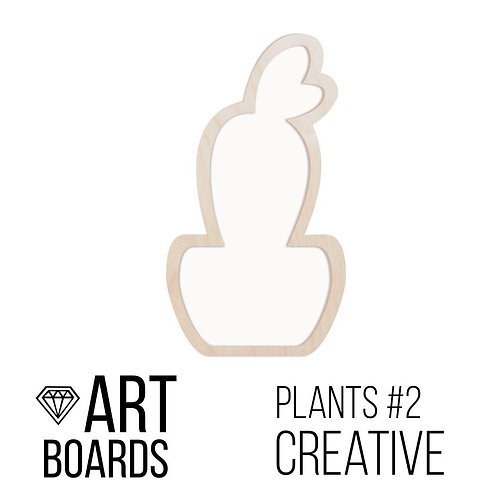 "Заготовка ART Board Creative ""Plants#2"", 14х26см"