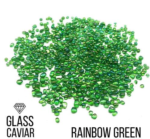Стеклянная крошка Glass Caviar, Rainbow Green, 250гр