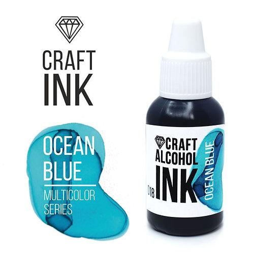 Спиртовые чернила  Craft  INK, Ocean Blue (Бирюзовый), 20мл