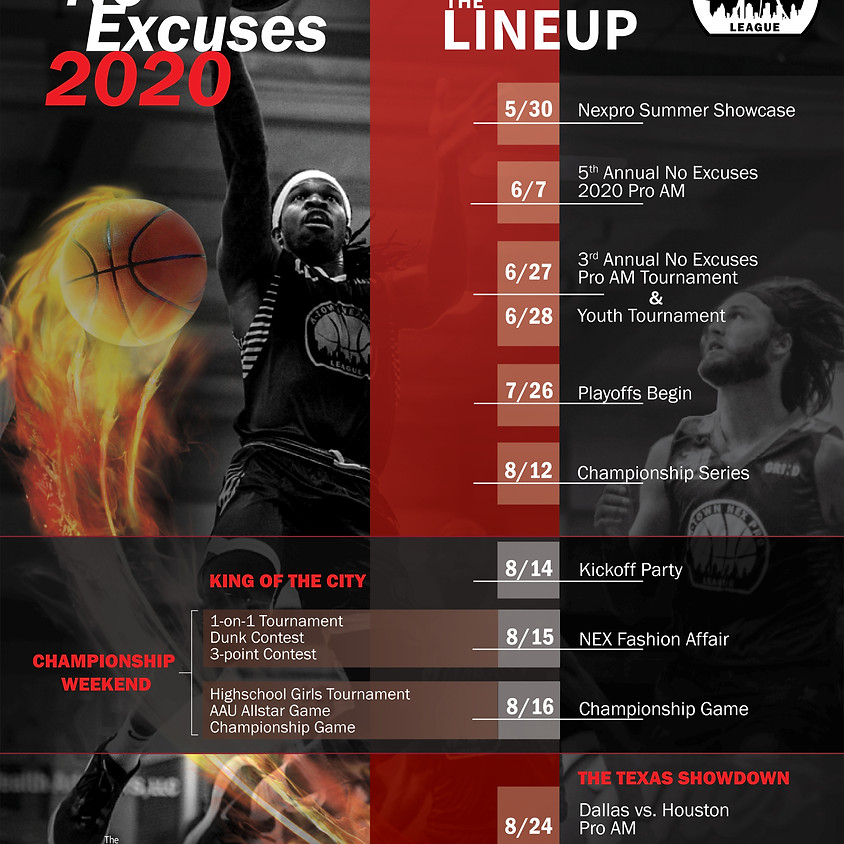 2020 No Excuses    Line Up
