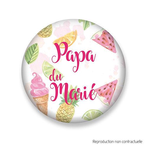 """Badge """"Gourmandise"""" Papa du Marié"""