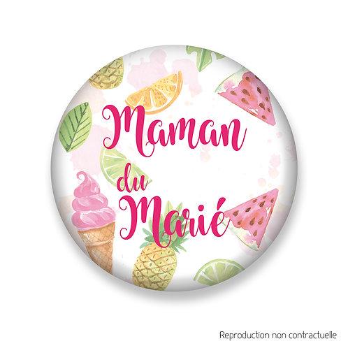 "Badge ""Gourmandise"" Maman du Marié"