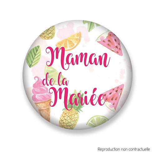 "Badge ""Gourmandise"" Maman de la Mariée"