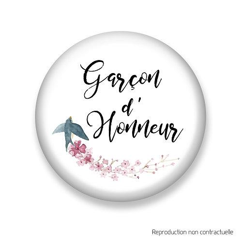 """Badge """"Oiseau"""" Garçon d'honneur"""