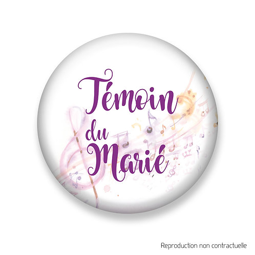 "Badge ""Musik"" Témoin du Marié"