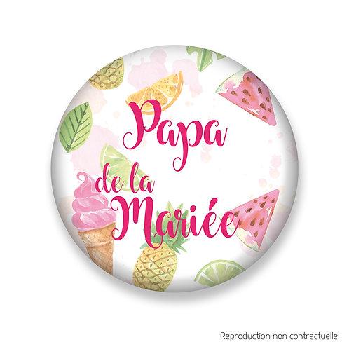 "Badge ""Gourmandise"" Papa de la Mariée"
