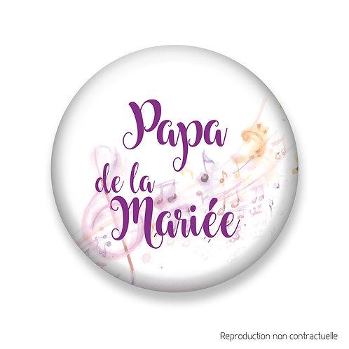 "Badge ""Musik"" Papa de la Mariée"