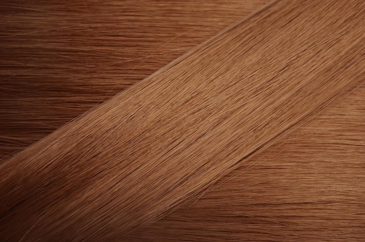 ライトブラウンの髪サンプル