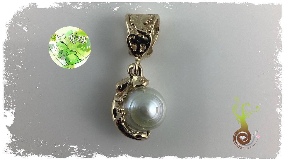 Pendentif LÉZY en or, avec perle