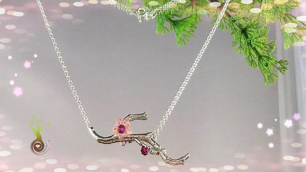 Collier fleur de cerisier (2)