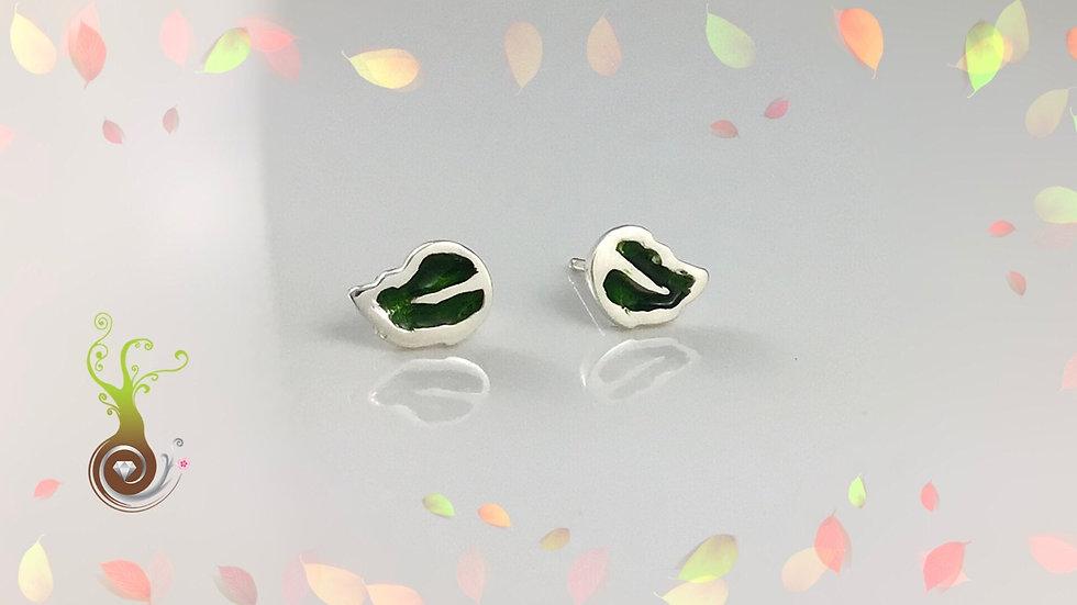 Boucles d'oreilles feuilles moyennes
