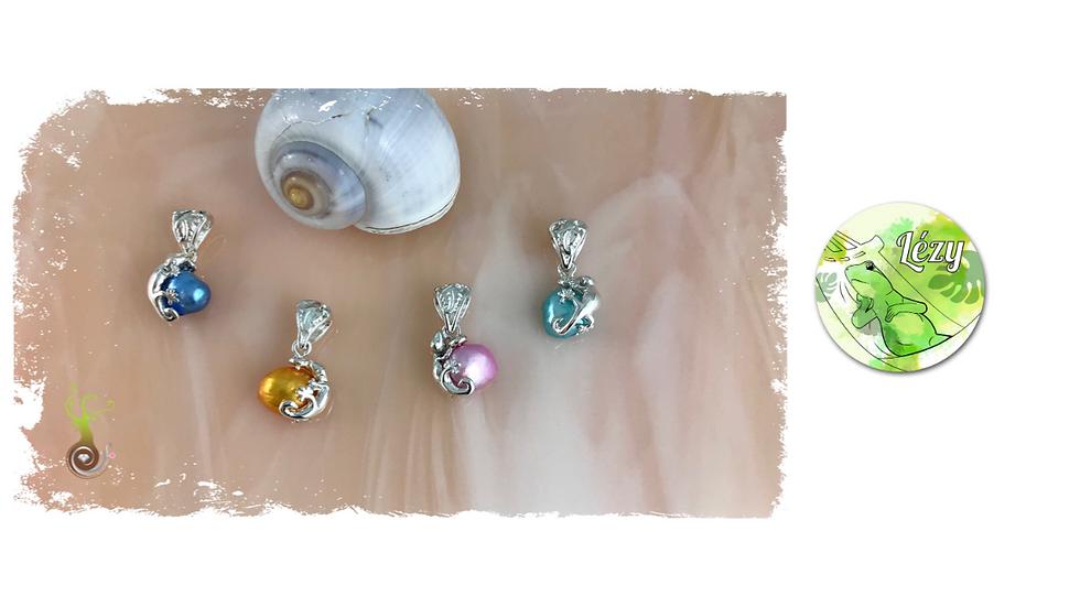 Pendentif LÉZY sur perle