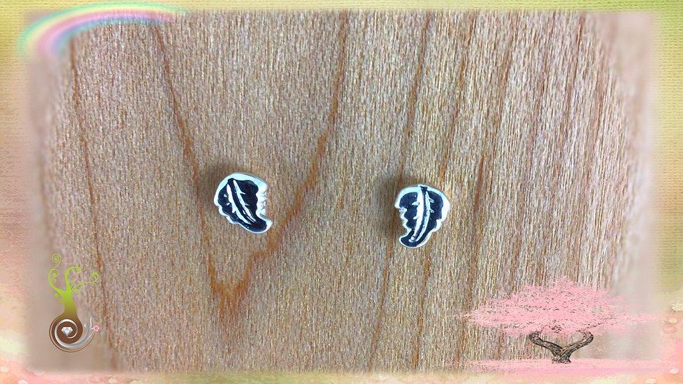 Boucles d'oreilles minis feuilles