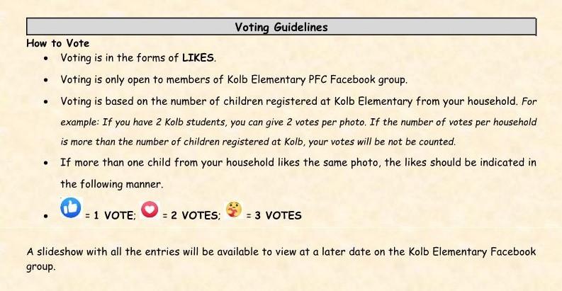 Kolb 2020 Virtual Halloween Contest VOTING!!