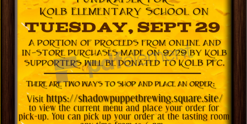 Shadow Puppet Takeout Tuesday Fundraiser on September 29th