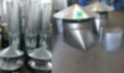 Chamine para churrasqueira à carvão..chaminé para churrasqueira em inox você compra na Metaller  em  Porto Velho ...WhatsApp (69) 9 9258 3443