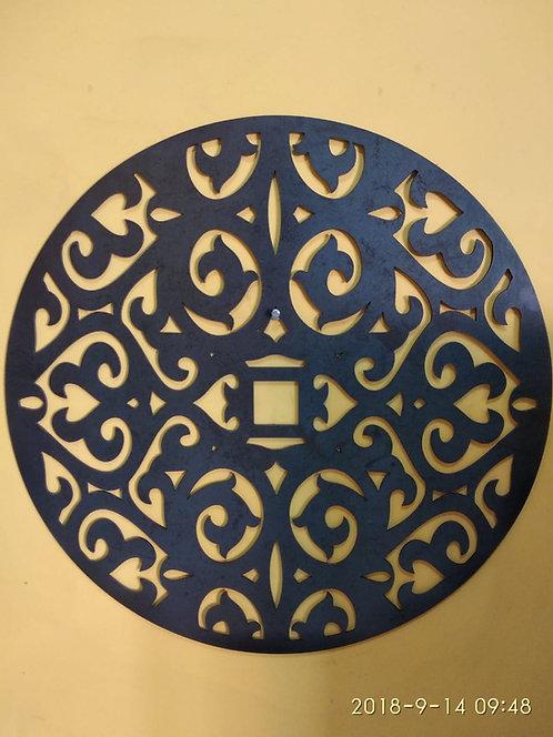 Mandala de ferro decorativa