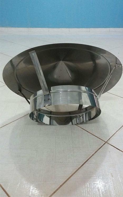 Chapéu inox para Duto 200 mm