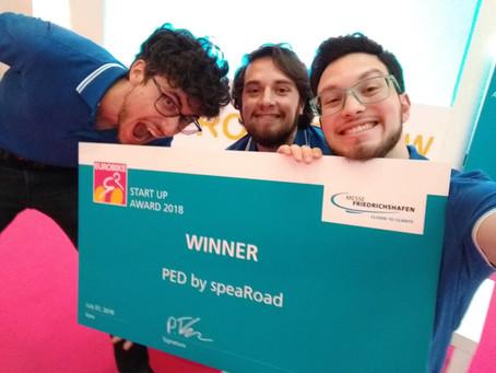 PED won the Eurobike Startup Award 2018!