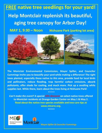 Help replenish Montclair's aging, native tree canopy!